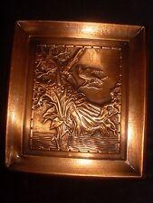 Albert Gilles Hammered Repousse Copper Plaque
