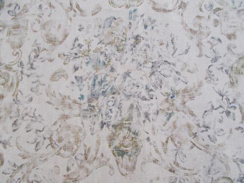Ralph Lauren Tela /'Old Hall Floral/' 3.3 metros 330 Cm Vintage Slate 100/% Lino