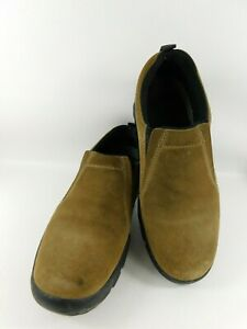 Roper-Performance-Men-039-s-Slip-On-Mac-Brown-Suede-Leather-Shoes-Size-8-US-EUR39