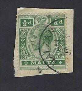 Rare-Malta-KGV-Stamp-cancelled-with-replica-of-Village-Postmark-BALZAN