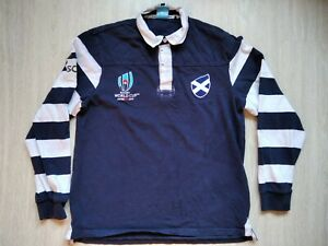 size 7-8 yrs New kids blue Scotland Japan 2019 Rugby World Cup rugby shirt