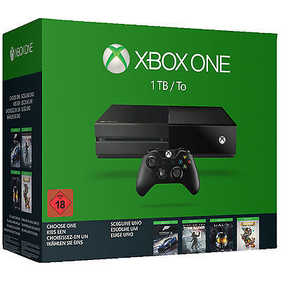 MICROSOFT Xbox One 1TB Wähle dein Spiel Bundle (Rise of the Tomb Raider, Forza 6