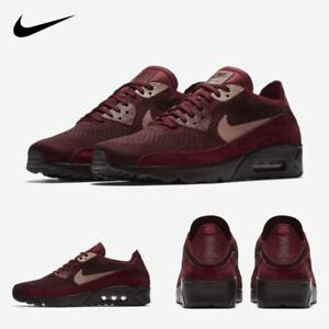 563c7aaeb3c Nike Air Max 90 Ultra 2.0 Flyknit Running Sneakers Deep Red 875943 ...