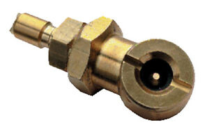Car Tyre Inflation Nozzle - Decant Air from Dive Cylinder via DIN/QD Connection