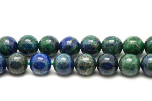 Fil 39cm 37pc env Chrysocolle Boules 10mm Perles de Pierre