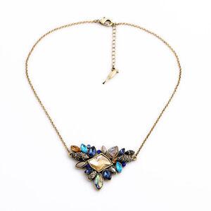 Collar-Colgante-Irregular-Flor-Ambar-Azul-Conchas-Gris-Retro-Antiguo-FUN-4