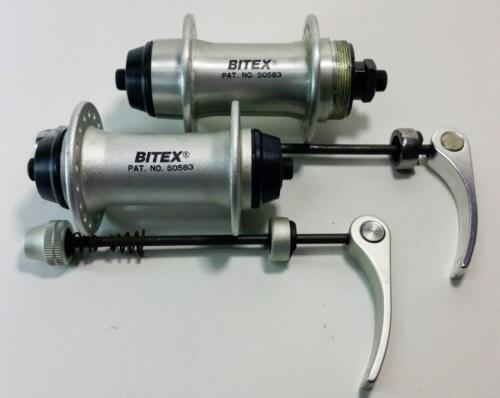 BITEX Front and Rear Quick release hubs freewheel Alloy QR 100mm 110mm 36h