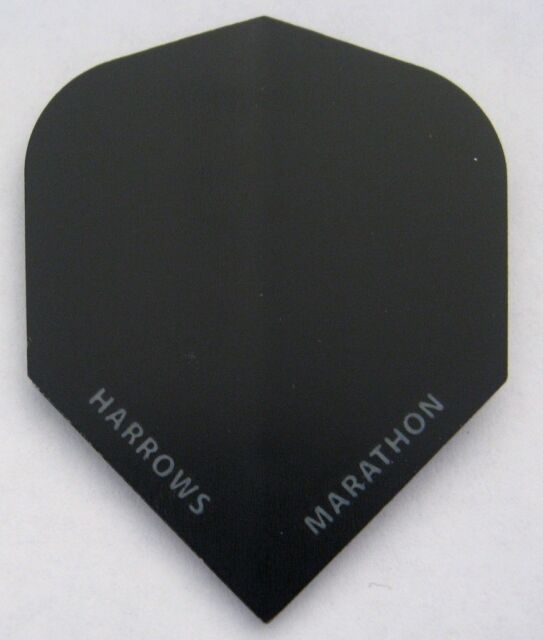 Harrows Marathon Extra Strong Dart Flights - Matt Black