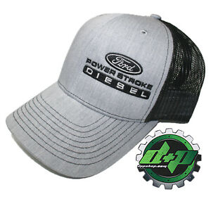 4675940c2 Ford Powerstroke truck hat richardson 112 Gray denim BLACK mesh ...