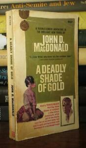 John D. MacDonald A DEADLY SHADE OF GOLD  1st Edition 1st Printing