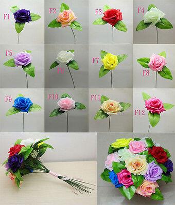 Home Decor Simulation Silk Rose Flowers Bouquet Living Room Wedding Supplies