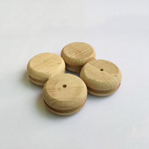 3X Wood Edge Slicker Multi-Size Burnisher Leather Craft Working Hand Tool ^F