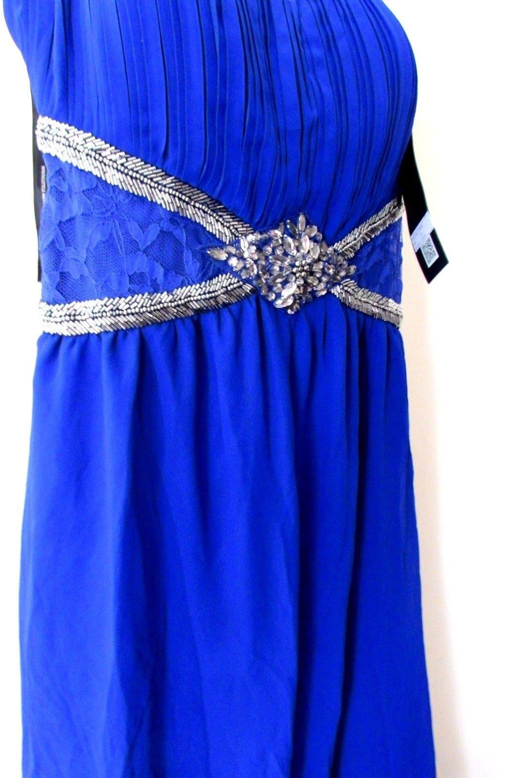 Embellished Cross Back Jumpsuit 12  Blau