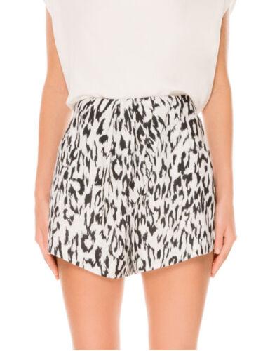 Finders keepers Anthology Leopard Black White Summer high Waisted Pocket Shorts