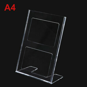 e4dad94c5b07f Details about Acrylic Table Card Menu Holder Stand Restaurant A4