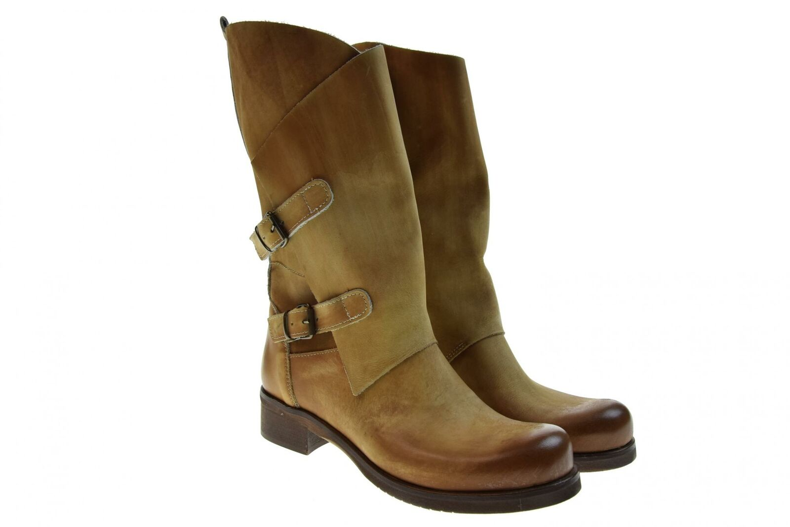 F.R.'s P19g LADIES' SHOES ANKLE BOOTS P-10 Cuoio