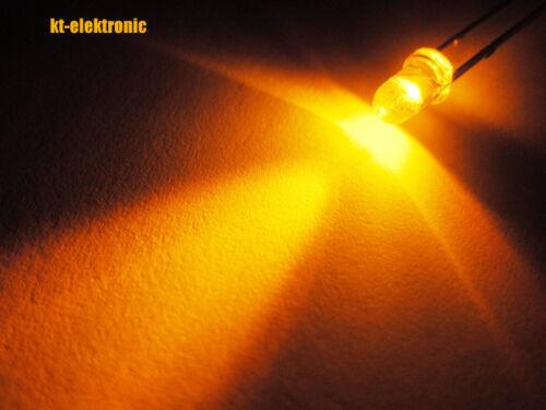 100 trozo LED 3mm Orange ultrahell 6000mcd