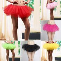 Adult Women Girl Tutu Tulle Skirt Pettiskirt Dance Party Club Skirt Clothing Hot