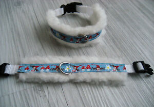 XXS-XS-M-Hundhalsband-Halsband-Hunde-Hundbekleidung-Geschirr-Handarbeit