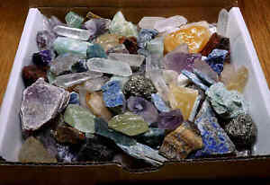 Crafters-Rock-Collection-1-Lb-Mix-Gems-Crystals-Natural-Mineral-Specimens