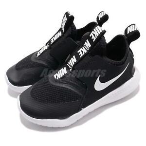 Nike-Flex-Runner-TD-Black-White-Toddler-Infant-Baby-Slip-On-Shoes-AT4665-001