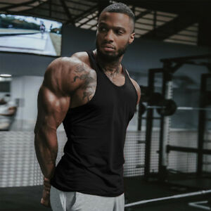 ca159563 Men Gym Singlet Stringer Muscle Tank Tops Fitness Sport Shirt Y BACK ...