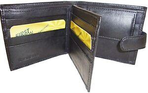 PORTAFOGLIO-PELLE-NERA-da-uomo-carta-di-credito-ID-Porta-Portamonete-Nuovo-stile