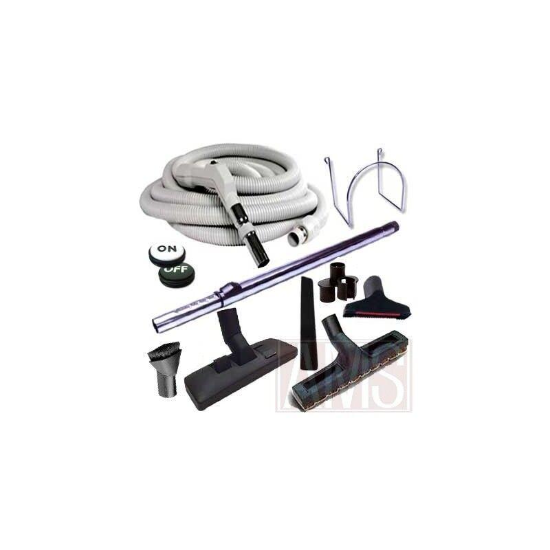 Set 8 accessoires + 1 flexible 15 m Plastiflex avec bouton marche arrêt