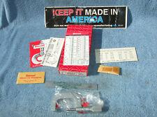 Starrett 585ma P 50mm Thread Micrometer 45 6 Vintage Toolmaker 01mm Graduation