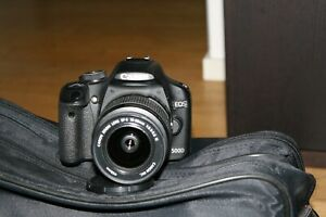 Fotocamera-Canon-EOS-500d-reflex-digitale-obiettivo-18-55-IS-borsa-sd-16gb