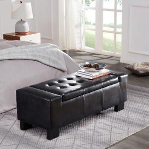 Elegant-Living-Room-Furniture-Black-Faux-Leather-Large-Storage-Ottoman-Bench-51-034