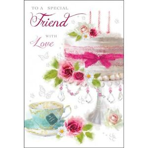 friend birthday card  special friend  luxury card  lovely verse, Birthday card
