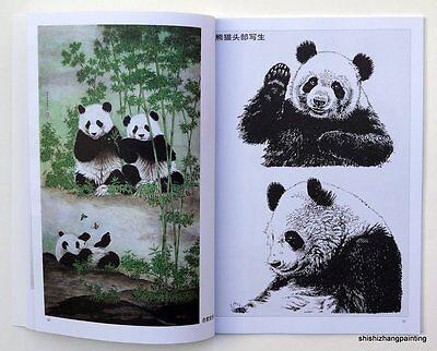 "Chinese book ""album of panda gongbi painting"" oriental Asian brush ink art new"