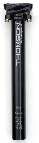 Thomson Masterpiece Bike Seatpost Zero Offset 27.2 x 330mm Black