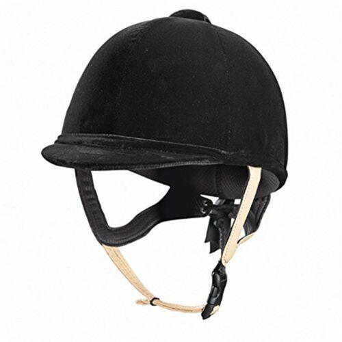 Caldene Tuta Pas015 Équitation Chapeau-Noir taille 55-cheval en cuir velours