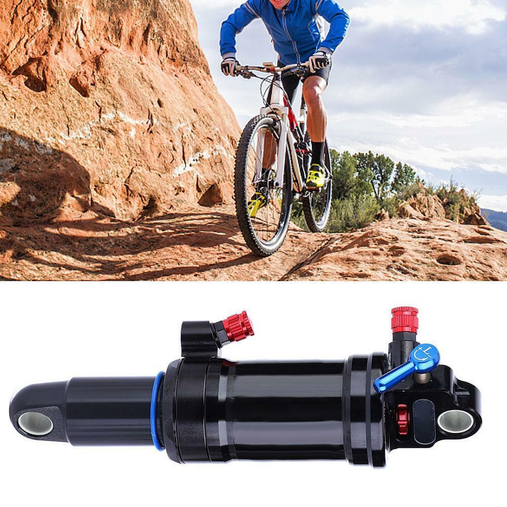 Acero Bicicleta de montaña Amortiguador trasero de suspensión de aire Absorber con bloqueo 165 190 200mm