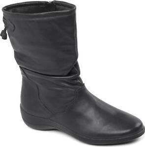 Padders-REGAN-Ladies-Womens-Leather-Wide-Fit-Zip-Comfort-Winter-Calf-Boots-Black