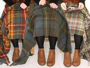 Tweedmill-tartan-100-wool-knee-travel-car-rug-British-made-small-blanket-throw