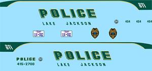 1//24 Lake Jackson Texas Police Department Waterslide Decals