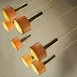 XXL-Kaskaden-Leuchte-Mikado-Messing-Haenge-Pendel-Lampe-7flammig-60er-70er-Jahre