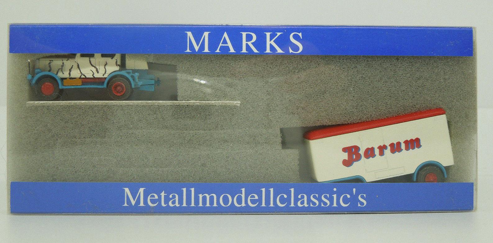 Marks Spur N 5201 Hanomag ST 100 mit Raubtiertwagen  Circus Barum (Lo)