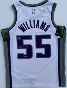 separation shoes 3a6f8 f6608 Details about JASON WILLIAMS SIGNED AUTOGRAPHED SACRAMENTO KINGS JERSEY  WHITE CHOCOLATE BAS