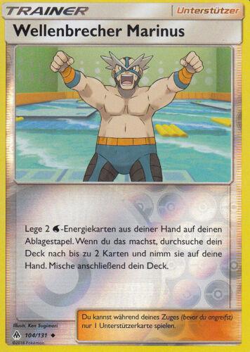 Pokemon 104//131 Wellenbrecher Marinus Reverse Holo Grauen der Lichtfinsternis