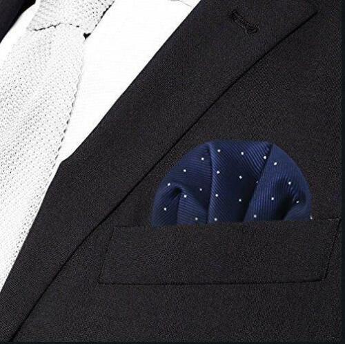Men/'s Satin Silk Pre Folded Pocket Square Hankie Hankerchief Polka Dot Party A