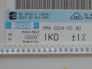 100 x SMD Widerstand 1,2KOhm MMA0204 50 1K2