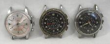 Lot of 3 Vintage Men's Sport Chronographs (2) Cimier (1) Rego for Parts/Repair