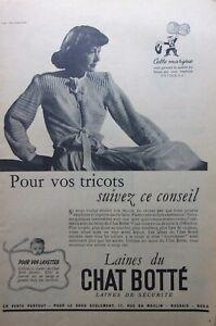page-de-publicite-LAINES-DU-CHAT-BOTTE-avec-CHAT-en-1950-ref-70835