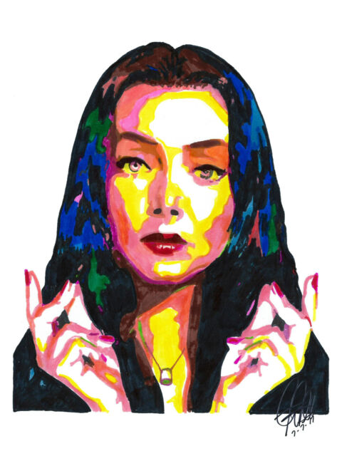Morticia Addams The Addams Family Carolyn Jones TV Poster Print Wall Art 8.5x11