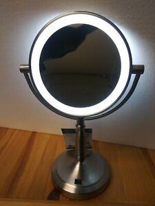 Zadro 10x 1x Cordless Led Lighted Vanity Mirror New Free
