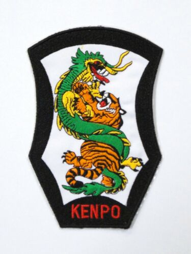 """Sew On New Kenpo Tiger /& Dragon Patch 4.25/"""" x 6.5/"""" Iron On"""